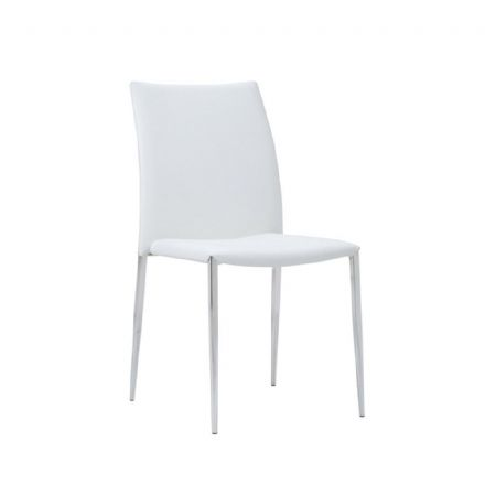 Siena Dining Chair White Faux Leather. Set of 4
